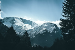 Norway (jimrune) Tags: snowcapped mountain range peak norge norway europe nature