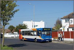 34649, Minnis Road (Jason 87030) Tags: bus stop minnis road rd birchington kent stagecoach people red white orange blue 34 dennis dart slf pointer sunny easter break holiday transport route service ramsgate thanet southeast fleet tree composition