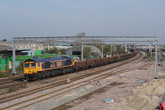 66763 19-04-19 (IanL2) Tags: gbrf class66 66763 wellingborough northamptonshire mml severnvalleyrailway engineers trains railways