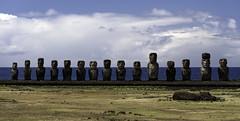 The Moai of Ahu Tongariki (Michael Laudij) Tags: michaellaudij easterisland isladepascua rapanui southpacific island pacific southamerica chile unesco moai headsofmoai ahu ahutongariki statue monument legend legacy legandary nikon d850 history polynesia heritage