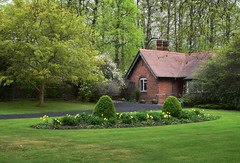The Lodge, Hall Place (Jocelyn777) Tags: spring parksandgardens foliage greenery green trees flowers grass architecture buildings tudor hallplace bexley london england
