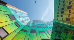 L'arc en Ciel #1, Deventer NL (Oudje1955) Tags: larcenciel deventer eyecatcher hanseaticcity officebuilding color colors colorfull colour colours colourfull rainbow sunnny sunlight sunbeam schalk canon canon1022mm canon70d
