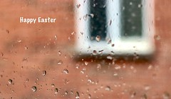 Happy Friday (Haytham M.) Tags: canon50mm canont7i raindrops kitchen neighbourhood pane home friday good easter spring drops rain window