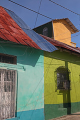 The Colours Of Flores (peterkelly) Tags: digital canon 6d northamerica gadventures mayandiscovery petén flores street road colours colors color colour home house wall blue sky green orange centralamerica guatemala