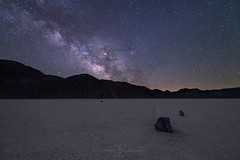 Lapse of Time (Jeff Berkes Photography) Tags: milkyway deathvalleynps deathvalley moving rocks sailingstones california playa stars trail night sky nighttime space mysterious milky way desert astrophotography landscape scenic outdoor photographer photography nature