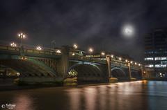 London Bridge (PixelRange) Tags: lights reflection cityscape londonbridge towerbridge bluehours london river thamesriver water nikon nikond7000 nikon18300mm sanjaykrsxena longexposure moon fullmoon