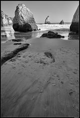 Praia dos Três Irmãos #9 (LilFr38) Tags: lilfr38 fujifilmxpro2 fujifilmfujinonxf1024mmf4rlmois portimao algarve portugal praiadostrêsirmãos blackwhite noirblanc beach ocean wave rock plage océan vague rocher
