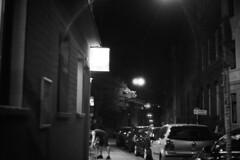 Stadt (tiltdesign2016) Tags: yashicaelectro35gsn analogphotography bw plustekopticfilm7600ise ilfordhp5400 400800 push wuppertal elberfeld nacht night ilfordilfosol319 stadt street strase