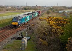 Boxing News; A Defeat On Points (Richie B.) Tags: 68033 68002 pfa iso drs direct rail services vossloh stadler 6k74 oldside workington cumbria