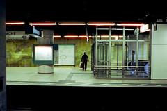Cinematic (roman.koenig) Tags: contax t3 cinestill 800t frankfurt am main subway neon