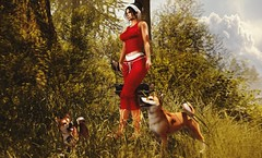 Nature walk (Alexa Maravilla/Spunknbrains) Tags: exxess equal10 lunar jian theepiphany sl secondlife outdoors nature people pets dogs animals blog blogger