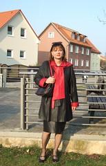 Mühlberg II (Marie-Christine.TV) Tags: feminine transvestite lady mariechristine mühlberg leather skirt coat pumps lederrock ledermantel dame elegant tgurl tgirl sekretärin secretary