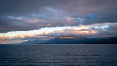 Leaving Ushuaia (LauriNovakPhotography) Tags: sunset igsky ushuaia mountains beaglechannel antarctica oneocean weather argentina clouds
