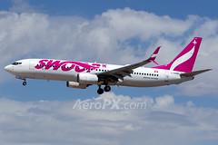 Swoop Boeing 737-8CT - C-GDMP (AeroPX) Tags: aeropx boeing737800 cgdmp caryliao klas las lasvegas lasvegasmccarraninternationalairport nv nevada swoop httpaeropxcom httpcaryliaocom