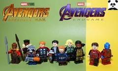 """We're In The Endgame Now"" [Infinity War - #14] (HaphazardPanda) Tags: lego figs fig figures figure minifigs minifig minifigures minifigure purist purists character characters comics comic book books story group super hero heroes superhero superheroes marvel mcu avengers infinity war endgame captain america iron man spiderman machine falcon vision scarlet witch white wolf winter soldier okeye black panther shuri nomad widow thor bruce banner hulk groot guardians galaxy rocket raccoon gamora nebula doctor strange starlord quill drax mantis wong gauntlet stones thanos stormbreaker"