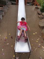 Bridgewater. Nothing beats a good old metal slippery dip. (denisbin) Tags: bridgewater slipperydip slide