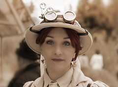 OKIMG_1148 (Claudio Marinangeli) Tags: romics steampunk roma 2019 giardino botanico via della lungara cosplay cosplayers costumes costumi costume cosplayer
