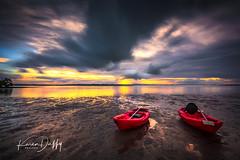 WP7 (Karen Duffy PhotoArt) Tags: wellington point queensland australia sunset golden kayak red water holidays anzac