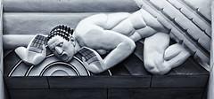 Mural--RCA Bldg (PAJ880) Tags: rca building ge comcast rockefeller center raymond hood manhattan new york nyc decp mural communication bw mono