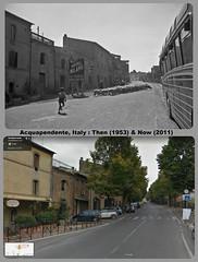 Then & Now : Acquapendente, Italy 1953+2011 (Brit 70013 fan) Tags: acquapendente lazio tuscany sr2 italy viavittorioveneto bluecars bus coach tour hotelmilano 1953 2011 thennow