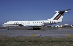 TU-134 LZ D 050 EGVA 240795 CLOFTING 2 P (Chris Lofting) Tags: tupolev tu135 lzd050 fairford riat bulgarian air force