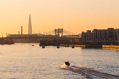 Going towards Sunset - Отправляясь в сторону заката (Valery Parshin) Tags: russia saintpetersburg canoneos70d canonef85mmf18usm evening neva ship river water stpetersburg