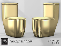 Gold Toilet - Group Gift (fancydecorsl) Tags: sl second life fancy decor gift