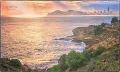 (097/19) Cala Llisera (Pablo Arias) Tags: pabloarias photoshop ps capturendx españa photomatix nubes cielo arquitectura mar agua mediterráneo costa cala llisera laalmadraba benidorm alicante