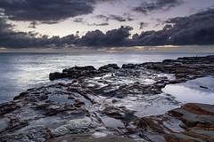 Sunrise Seascape (Merrillie) Tags: daybreak sunrise nature water clouds rocky centralcoast newsouthwales rocks earlymorning nsw morning sea ocean avocabeach landscape waterscape coastal waves sky seascape dawn coast australia outdoors