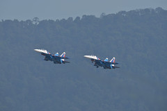 LIMA19 - 45 (coopertje) Tags: malaysia pulau langkawi lima airshow aircraft jet fighter sukhoi su30 flanker russian air force russianknoghts