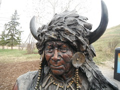 Historic Bow Valley Ranche (Mr. Happy Face - Peace :)) Tags: yyc cowtown history statues firstnations art2019 albertabound canada ranche bowvalley fishcreek park 1880 historic bronze art statue native