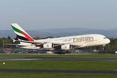 A6-EUZ Airbus A380-842 EGCC 20-04-19 (MarkP51) Tags: a6euz airbus a380842 a380 emiratesairlines ek uae manchester ringway airport man egcc england airliner aircraft airplane plane image markp51 nikon d500 nikond500 nikonafp70300fx sunshine sunny