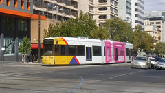 Adelaide Metro (6/6) (Jungle Jack Movements (ferroequinologist)) Tags: adelaide south australia north terrace king william street moseley square botanical gardens metro 112 110 104 tramway tramline trams light rail urban city ticket tram authority class bogie articulated bogies door brake performance workshop workshops service public transport advertising livery ttc trolley cablecar fernacular engineer engine appliance kw traction run freight load pull passenger rails line train station set platform pickup carriage trip suburb suburban gunzel gunzelling gunzeller mind gap alstom citadis flexity bombardier classic