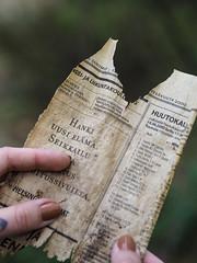 Old (jennajemina) Tags: old paper news abandoned urbex text finnish