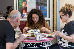 Lunch-break with Mom & Dad (Poupetta) Tags: candid market tlv carmel food eating restaurant
