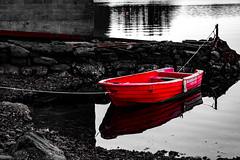 Lil Red Boat (langdon10) Tags: karmøy northsea norway water boat red rock shoreline