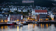 Norway at night (ea.leclercq) Tags: norway night city cityscape boat port haven travel