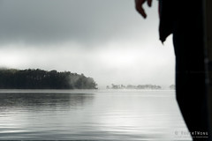 20190419-04-Looking out of ferry (Roger T Wong) Tags: 2019 australia cradlemountainlakestclairnationalpark lakestclair np nationalpark rogertwong sel24105g sony24105 sonya7iii sonyalpha7iii sonyfe24105mmf4goss sonyilce7m3 tasmania bushwalk fog hike lake mist outdoors reflection tramp trek walk water