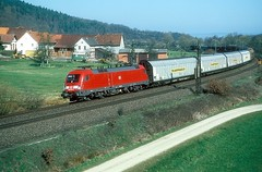 182 021  Herrmannspiegel  30.03.04 (w. + h. brutzer) Tags: herrmannspiegel 182 taurus eisenbahn eisenbahnen train trains deutschland germany elok eloks lokomotive locomotive zug db nikon webru analog