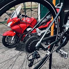Bikes.. (Conphused) Tags: bicycle motorcycle honda giant
