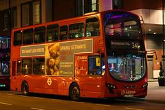 LJ60 AXN, Park Plaza Hotel, London, April 5th 2017 (Southsea_Matt) Tags: lj60axn de329 route341 arriva wright eclipse gemini daf vdl db300 parkplazahotel greaterlondon england unitedkingdom canon 80d sigma 1850mm april 2017 bus omnibus vehicle transport night