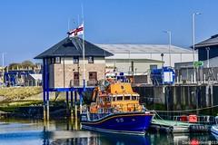 Buckie Harbour - Aberdeenshire Scotland - 19th April 2019 (DanoAberdeen) Tags: danoaberdeen buckie rnlb rnli lifeboat williamblannin candid amateur 2019 buckiescotland moraycoast aberdeenshire ship northsea harbour water moray vessels boats