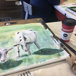 Cows and coffee #watercolor thumbnail