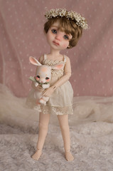 Mr. Bunny Deliveries (Underthefern) Tags: little cosmos dolls bjd doll abjd vintage bunny cocoriang