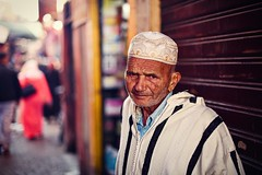 A portrait of old man at the market (snowpine) Tags: street streetphotography streetportrait people portrait morocco marrakech oldman candid muslim lifestyle