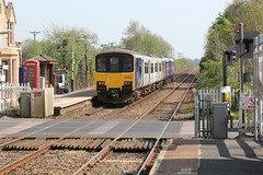 Northern Rail Southport to Blackburn 1J13 service passes New Lane Station with BR Leyland Pacer 142009 leading BR Sprinter 150102 on a hot sunny Easter Saturday 20th April 2019 © (steamdriver12) Tags: easter saturday 20th april 2019 northern rail southport blackburn 1j13 service new lane station br leyland pacer 142009 leading sprinter 150102 diesel multiple unit spring hot sunny lancashire england