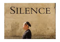 Silence (1957 flâneur) Tags: silence woman avignon france streetphotography