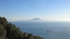 Gibraltar. Europe (bottom left corner) & Africa (in the background) (poprostuflaga) Tags: gibraltar strait cieśnina