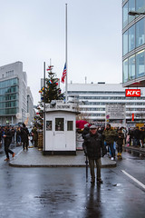Checkpoint Charlie (Luca Quadrio) Tags: berliner flag berlinwall east landmark germany city zone cold capital charlie german communism border west war history travel sector berlin military wall checkpoint sign europe american soldier berlino