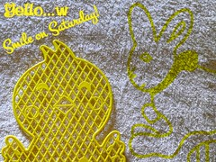 Yello...w (jlynfriend) Tags: phonephoto lg abstract texture yellowandwhite smileonsaturday chick rabbit card holiday egg easter towel text art drawing sketch